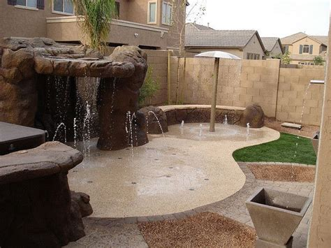 splash pad backyard splash pad how cool would it be to have this in my