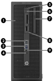 HP ProDesk 600 G1 Tower PC - Identifying Components   HP