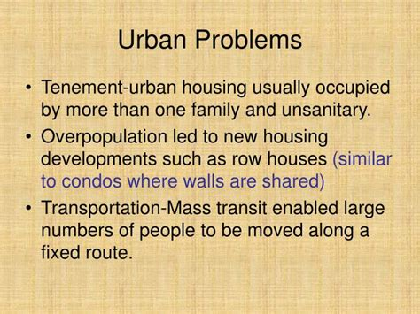 the challenges of urbanization ppt the challenges of urbanization ch 7 2 powerpoint