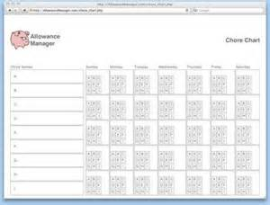 allowance chart template 10 best images of chore charts with allowance for