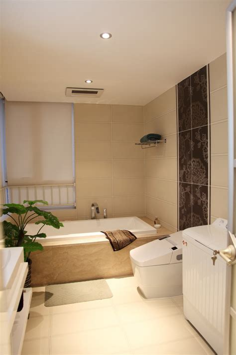 Bathroom Tiles Designs 现代小卫生间墙砖效果图 土巴兔装修效果图