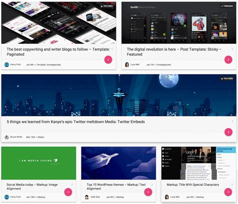 post layout in wordpress 11 free material design wordpress themes to spice up your blog