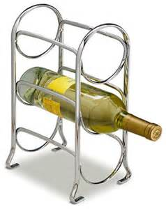 axis 3 bottle chrome wine rack modern wine racks by