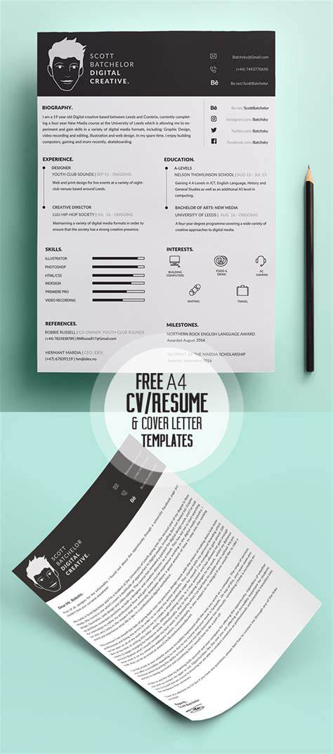 free modern resume templates psd 17 free clean modern cv resume templates psd freebies graphic design junction