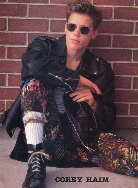 corey haim sunglasses corey haim pinup clipping 80 s sexy in sunglasses from 2