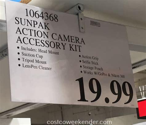gopro costco sunpak accessory kit costco weekender