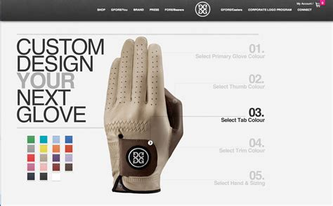 layout gloves design your own golf glove gfore you golf apparel