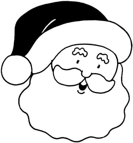 ausmalbild gesicht des weihnachtsmannes ausmalbilder kostenlos zum ausdrucken