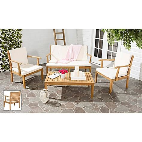 bed bath and beyond fresno safavieh fresno 4 piece patio furniture set bed bath