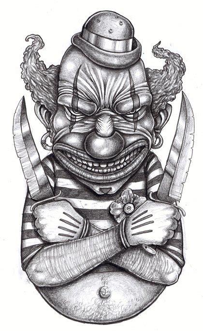 clown tattoo designs black white jester tattoos lawas