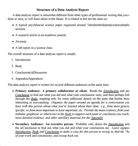 Analytical Report Writing Sle by 34 Best Sles Of Analysis Report Templates Thogati