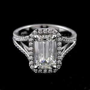 halo ring emerald cut halo ring settings