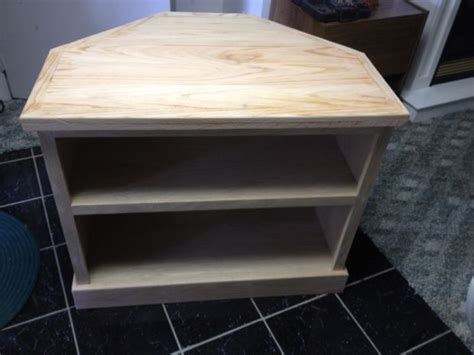 tall corner media console  woodworking plans