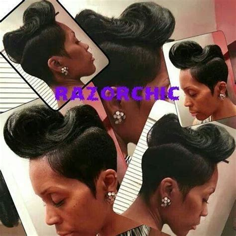 razor chic of atlanta styles razor chic of atlanta short black hair style pinterest