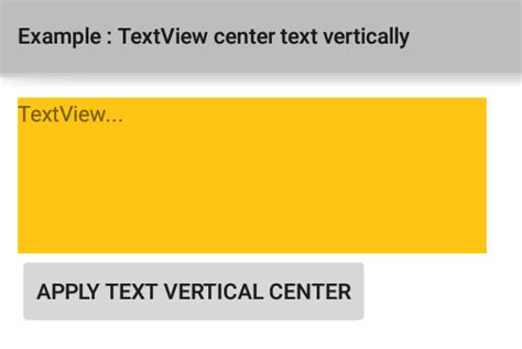 android center text how to center the text vertically in a textview in android