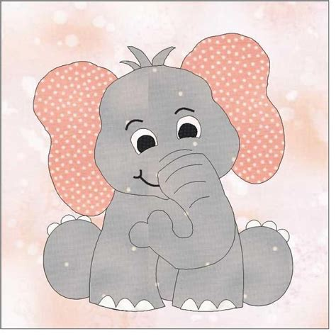 cute elephant pattern de 25 mest popul 230 re id 233 er om elephant applique p 229 pinterest