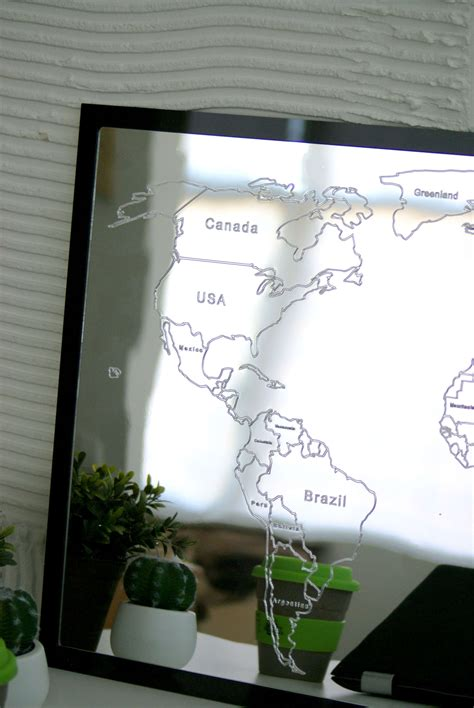 large world map wall mirror daydreamcom