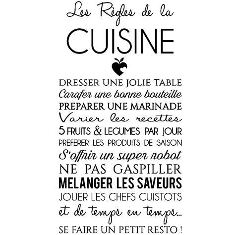 citation cuisine humour sticker citation les r 232 gles de la cuisine stickers