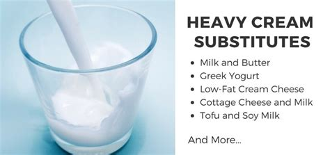 10 healthy heavy cream substitutes heavy whipping cream