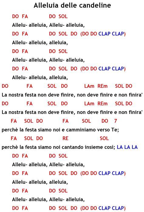 testo canzone alleluia canti liturgici