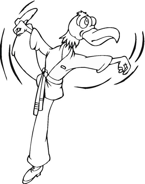 coloring page karate karate coloring pages birthday printable