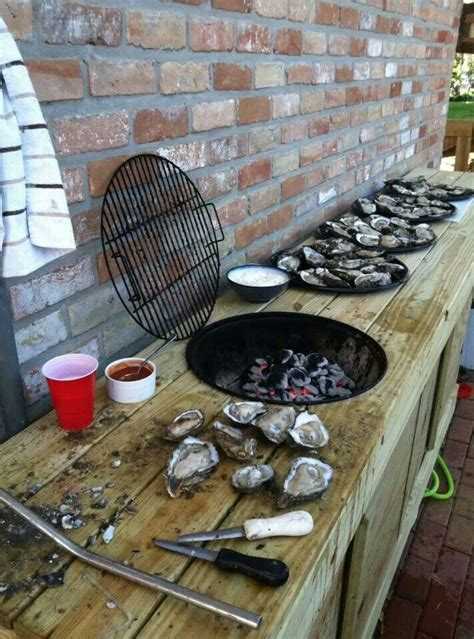 oyster shucking table oysters pinterest tables and