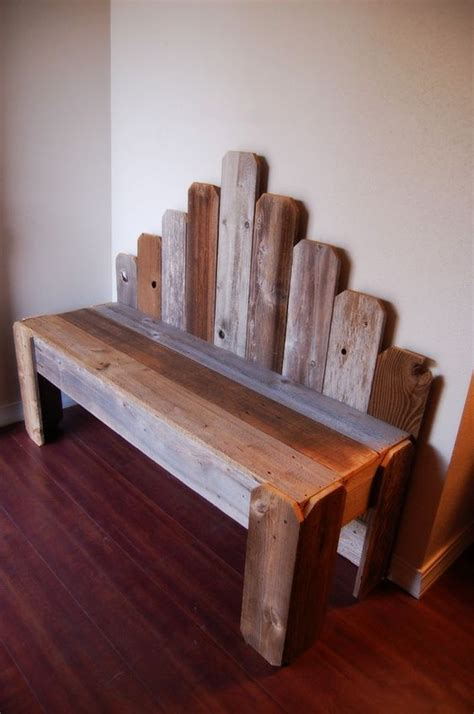 scrap wood bench for the the head and front porches on pinterest