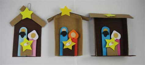 Nativity Paper Craft - 3 paper nativity ornament crafts