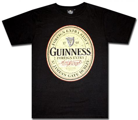 Zippo Polos Non Lable guinness distressed label black t shirt