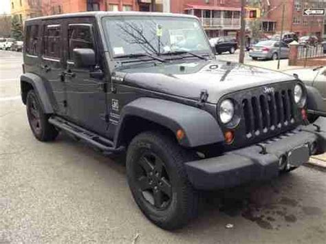 Charcoal Grey Jeep Rubicon Jeep Wrangler Unlimited Sport