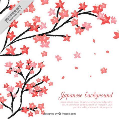 fiori di ciliegio giapponesi disegni sfondo giapponese con dipinti a mano fiori di ciliegio