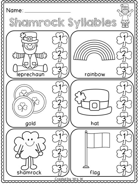 s day for kindergarten free st s day literacy and math printables