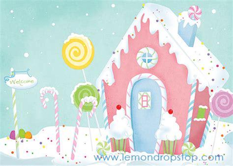 candy house lemondrop shop backdrops