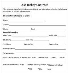 free dj contract template dj contract template dj contract template