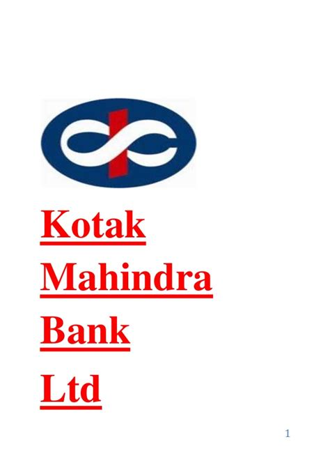 kotak bank kotak report