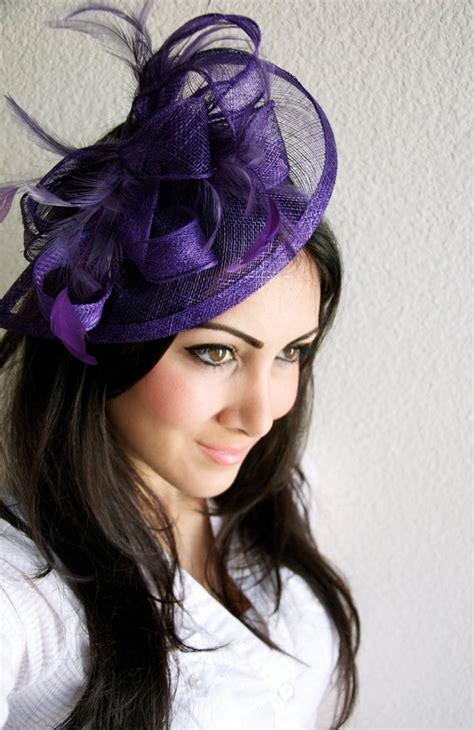 purple fascinator hat purple fascinator penny mesh hat fascinator with by eyeheartme