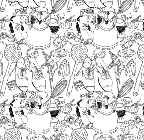 repeat pattern drawing 5 steps to illustrating a repeat pattern by hand skillshare