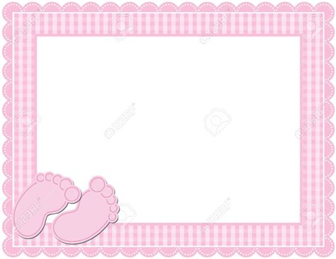 Istudio Publisher Templates Greetings Card New Baby by Baby Clip Border 34079405 Baby Gingham Frame