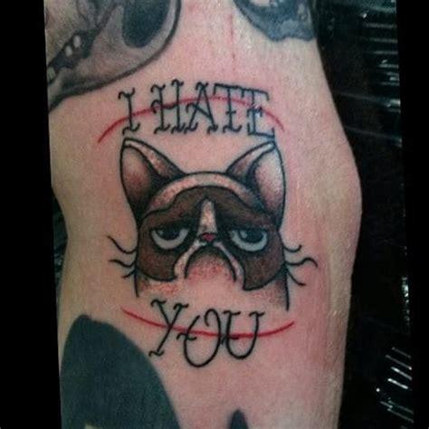 i hate tattoos 35 awesome grumpy cat tattoos