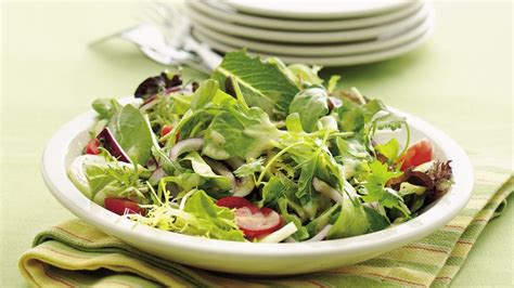 Decorating Ideas For The Kitchen Mixed Green Salad With Dijon Vinaigrette Recipe