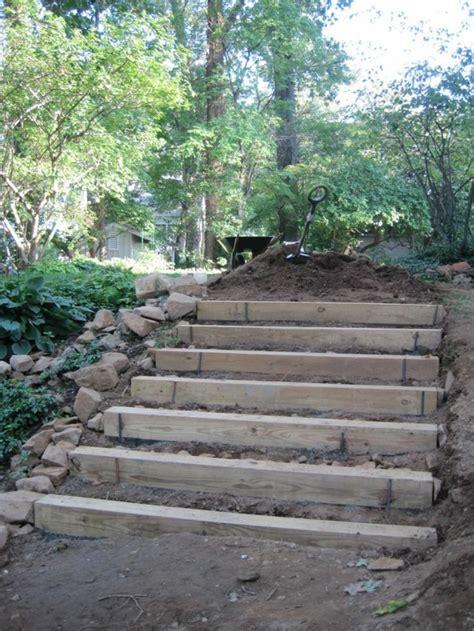 garten ideen selber bauen gartentreppe holz gartenideen mit treppen
