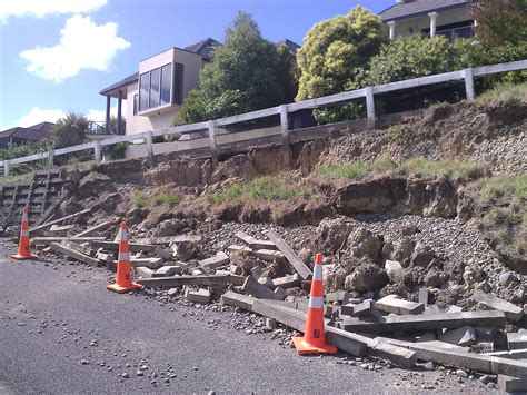 Concrete Crib Wall by Concrete Crib Wall With Poor Performance Christchurch