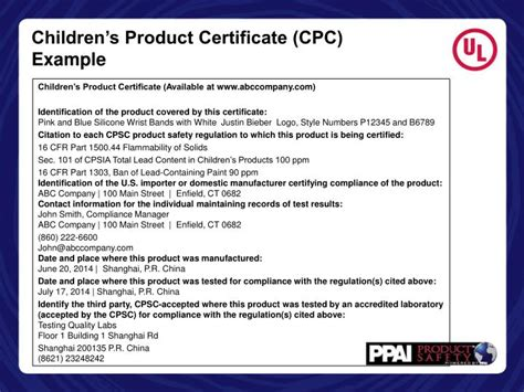 Ppt How To Read A Test Report Powerpoint Presentation Id 5713358 Children S Product Certificate Template