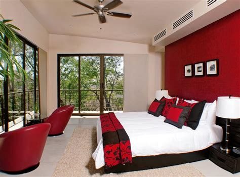 Red Paint Bedroom - best paint combination for home interior