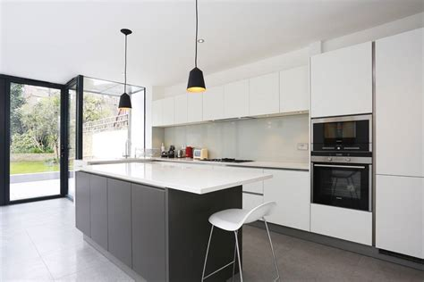 Design A Kitchen Island Online by Grey And White Kitchen Island Extension