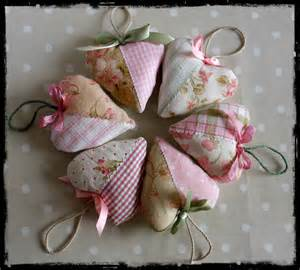 parlour made shabby chic fabric hearts