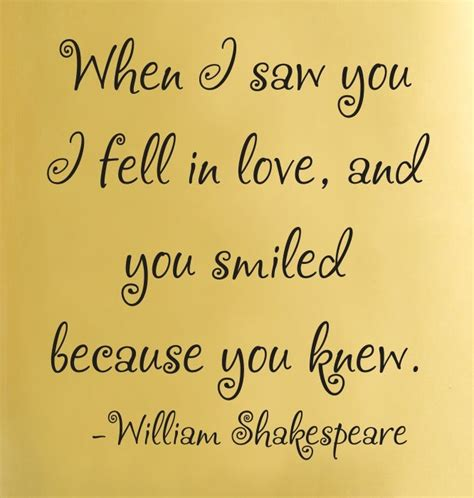 Custom Wall Stickers Words when i saw you i fell in love and you smiled because you