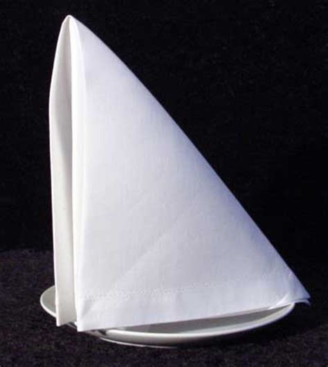 How To Fold Paper Dinner Napkins - the sail napkin folding