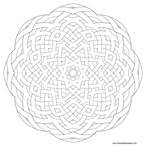 coloring pages patterns mandala don t eat the paste pattern mandalas to color