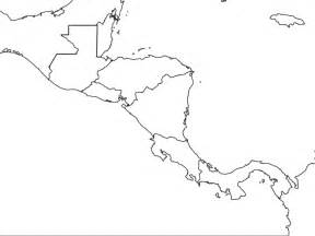 south and central america blank map blank central america map